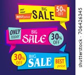 sale origami banners   Shutterstock .eps vector #706426345