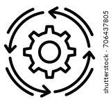 workflow vector icon | Shutterstock .eps vector #706437805