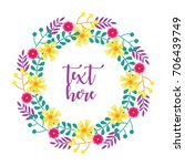 cute floral wreath design for... | Shutterstock .eps vector #706439749