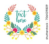 cute floral wreath design for... | Shutterstock .eps vector #706439809