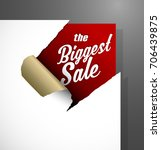 the biggest sale text uncovered ... | Shutterstock .eps vector #706439875