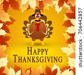 happy thanksgiving day. vector... | Shutterstock .eps vector #706442857