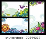 decorative floral banners... | Shutterstock .eps vector #70644337