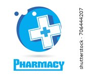 logo pharmacies and medicine.... | Shutterstock . vector #706444207