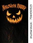 halloween party flyer with... | Shutterstock . vector #706450525