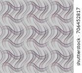 seamless wavy linear pattern | Shutterstock .eps vector #706452817