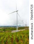wind turbine on a rainy day i'm ...   Shutterstock . vector #706454725