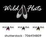 shoes logo. female elegant flat ... | Shutterstock .eps vector #706454809