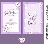 save the date card  wedding... | Shutterstock .eps vector #706461631