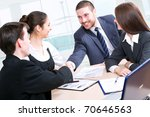 shaking hands of two business... | Shutterstock . vector #70646563