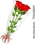 Illustration Of Three Red Rose...