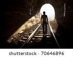 exit from darknes   light at... | Shutterstock . vector #70646896