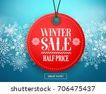 winter sale tag vector banner.... | Shutterstock .eps vector #706475437