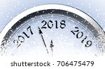 new year's eve 2018 | Shutterstock .eps vector #706475479