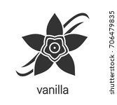vanilla flower glyph icon.... | Shutterstock .eps vector #706479835