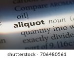 Small photo of Aliquot word in a dictionary. Aliquot concept