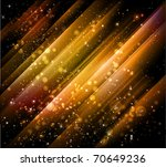 beautiful golden background with shiny particles and lights - JPG version - stock photo