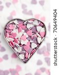 the sweet colorful hearts in...   Shutterstock . vector #70649404