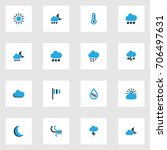 climate colorful icons set.... | Shutterstock .eps vector #706497631