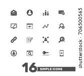 set of 16 engine icons set... | Shutterstock .eps vector #706500565