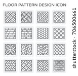 vector line icon of floor... | Shutterstock .eps vector #706500661
