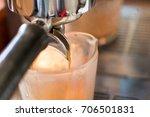 close up espresso coffee...   Shutterstock . vector #706501831