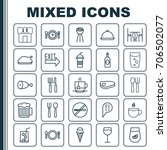 eating icons set. collection of ... | Shutterstock .eps vector #706502077