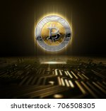 a cryptocurrency bitcoin...   Shutterstock . vector #706508305