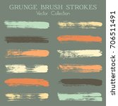 watercolor  ink or paint brush... | Shutterstock .eps vector #706511491