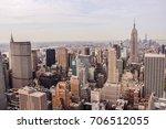 us new york top of the rock... | Shutterstock . vector #706512055