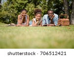 african american family looking ... | Shutterstock . vector #706512421