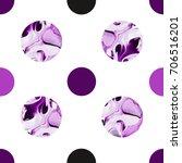 seamless circle modern pattern... | Shutterstock . vector #706516201