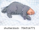 sleeping newborn baby in...   Shutterstock . vector #706516771