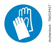 protective safety gloves must... | Shutterstock .eps vector #706519417