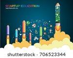 start up concept. pencils... | Shutterstock .eps vector #706523344