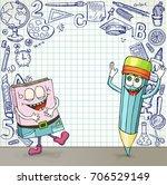 back to school banner. a blank...   Shutterstock .eps vector #706529149