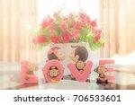 romantic couple boy and girl... | Shutterstock . vector #706533601