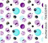 seamless circle modern pattern... | Shutterstock . vector #706533949