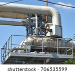 pipeline of the power plant | Shutterstock . vector #706535599