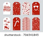 christmas and new year gift... | Shutterstock .eps vector #706541845