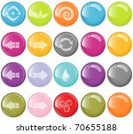 vector beautiful glassy icons... | Shutterstock .eps vector #70655188