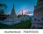 beautiful sunset over lanna... | Shutterstock . vector #706553101