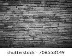 background of old brick in thai ... | Shutterstock . vector #706553149
