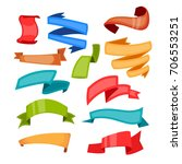 cartoon ribbons and colorful... | Shutterstock .eps vector #706553251