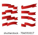 red ribbons or waving flags and ... | Shutterstock .eps vector #706553317