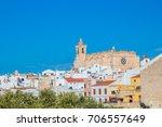 ciutadella town cityscape with... | Shutterstock . vector #706557649