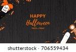 festive halloween web banner... | Shutterstock .eps vector #706559434