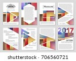 abstract vector layout... | Shutterstock .eps vector #706560721