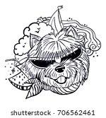 dog in sunglasses | Shutterstock .eps vector #706562461