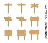 wooden signboards   vector... | Shutterstock .eps vector #706562494